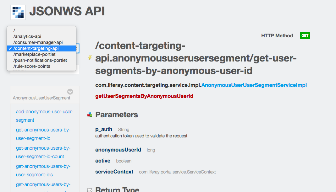 Audience Targeting - Core API