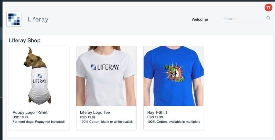 Liferay T-shirt Shop