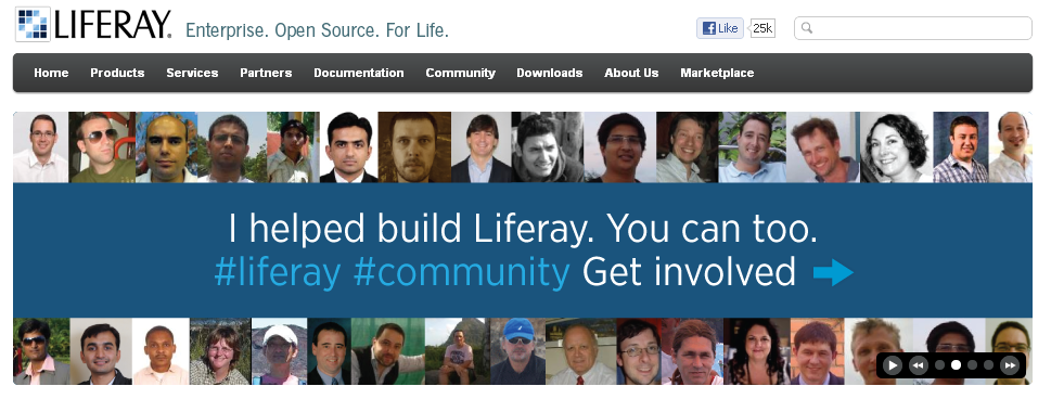 AUI Carousel on Liferay Home page