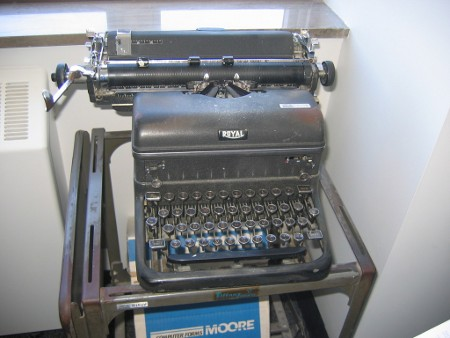 This looks pretty much exactly like the typewriter I had. Image courtesy of Government Auctions.