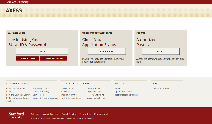 Web Portal Example - Stanford University Student and Faculty Portal - Liferay Portal