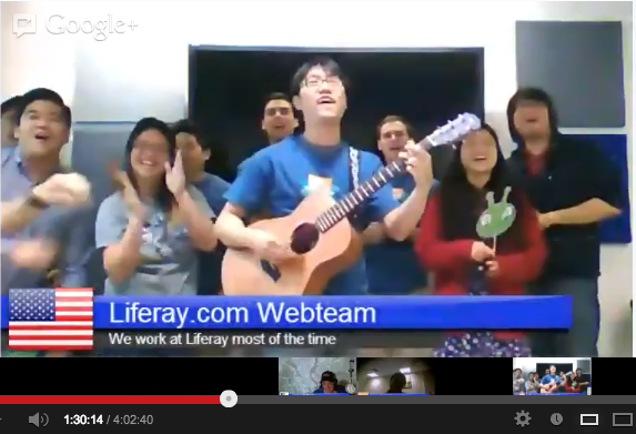 Liferay.com Web Team Singing