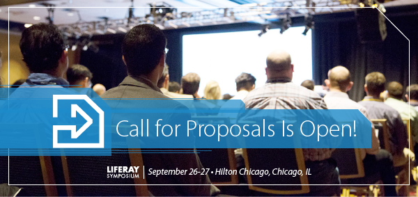 Share your speaking proposal for Liferay Symposium North America